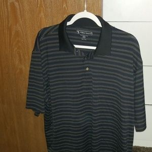 Pebble Beach 2XL Striped Polo Shirt